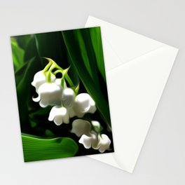 Painted Lily-of-the-Valley Stationery Cards