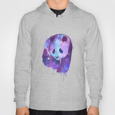 Watercolor Panda in Purple Hoody