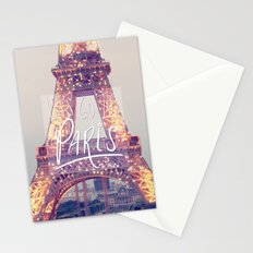 let's go to paris Stationery Cards