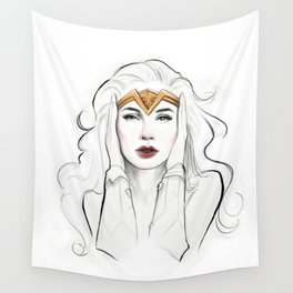 She was her own Hero Wall Tapestry