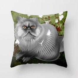 Arni Fuzzy Fuzzball  Throw Pillow