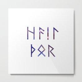 Hail Thor - Runes Metal Print