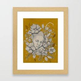 """""""Guardians"""" - Surreal Floral Portrait Illustration Framed Art Print"""