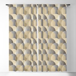 Bubble pattern gold-grey Blackout Curtain