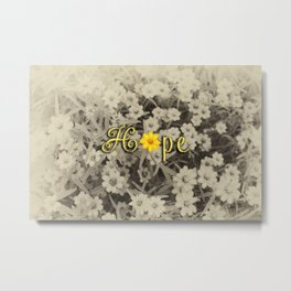 Hopeful Flower Metal Print