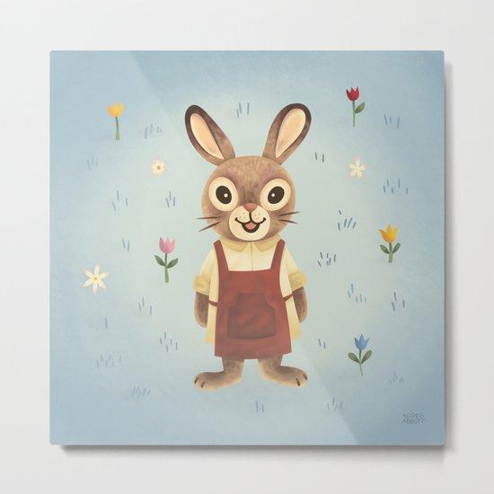 Garden Rabbit Metal Print