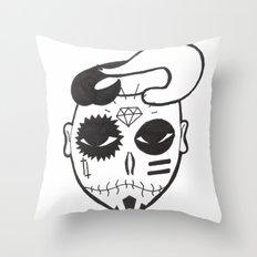 Skull Boy Throw Pillow