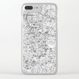Vintage Map of Brussels (1905) BW Clear iPhone Case