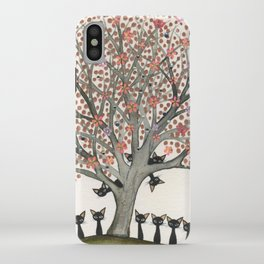 Barbados Whimsical Cats in Tree iPhone Case