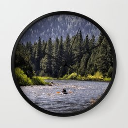 Paddling the Blackfoot - MT Wall Clock