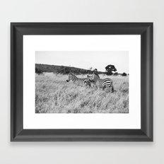 in a row::kenya Framed Art Print
