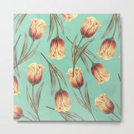 Tulipa pattern 3.1 Metal Print