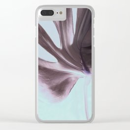 Cheeseplant Leaf Portrait Clear iPhone Case