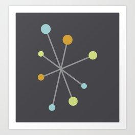 Mid Century Modern Atomic Age Pattern Art Print