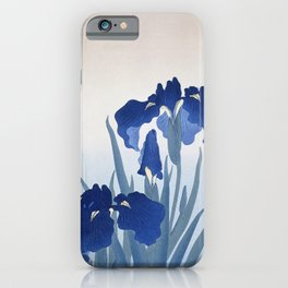 Japanese Iris Flower by  Ohara Koson iPhone Case
