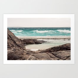 Watching the Waves Roll In Art Print