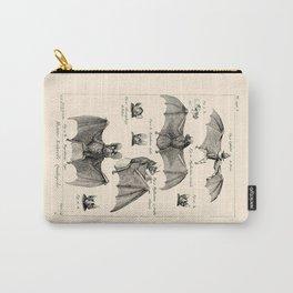 Vintage Bat Diagram Carry-All Pouch