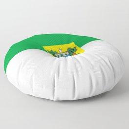Flag of rio grande do norte Floor Pillow