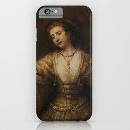 Rembrandt - Lucretia (1664) iPhone Case