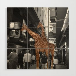 Safary in City. African Invasion. Wood Wall Art