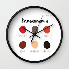Enneagram 8 Wall Clock