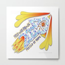 2015 Full of Promise, Fueled by Hope - Zentangle Illustration Metal Print