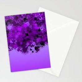 paint splatter on gradient pattern dp Stationery Cards