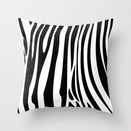 Zebra trendy design artwork animal exotic pattern Throw Pillow