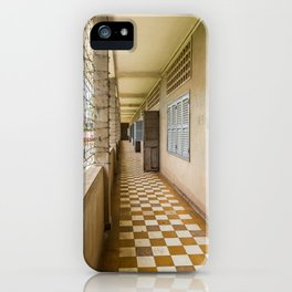 S21 Building C Walkway - Khmer Rouge, Cambodia iPhone Case