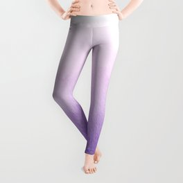 Purple Watercolor Design Leggings
