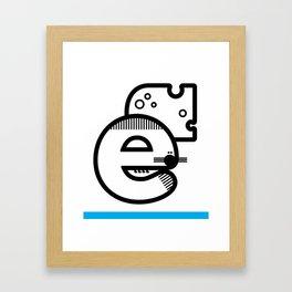 ABC :E Framed Art Print