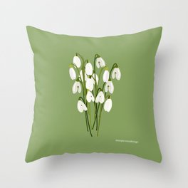 Bouquet Of Snowdrops Throw Pillow