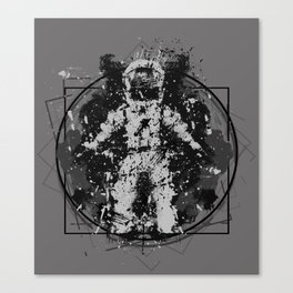 the Vitruvian astronaut Canvas Print