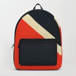 Black White And Red Colorful Retro Style Stripes Bast Backpack