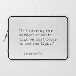 Aristotle minimal quote Laptop Sleeve