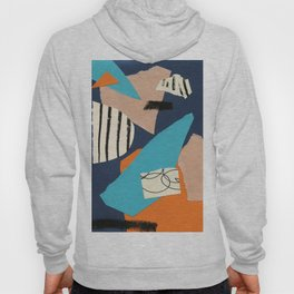 abstract collage Hoody