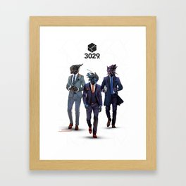 Snazzy looking bots Framed Art Print