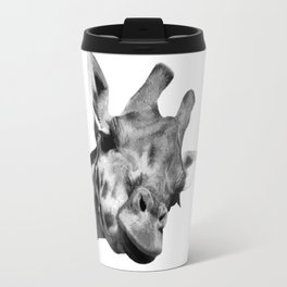 Black and white giraffe Travel Mug