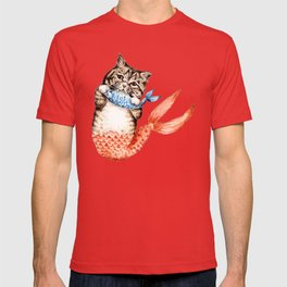 Cute Purrmaid Cat Mermaid T-shirt