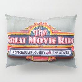 Original Art Photograph Great Movie Ride Neon Marquee Sign GMR Pillow Sham