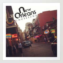 The One and Only Bourbon Street of New Orleans Art Print