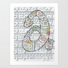 Simple ABC Art Print