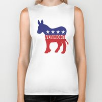 vermont Biker Tanks featuring Vermont Democrat Donkey by Democrat