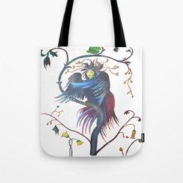 Gamaun Halloween Prophetic Raven Vector Tote Bag