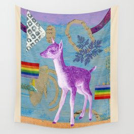 rainbow deer 2 Wall Tapestry