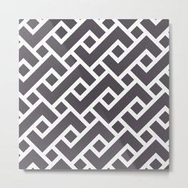 Monochrome Intricate Pattern Gamma Metal Print