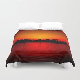 Tokyo Skyline Sunset Duvet Cover