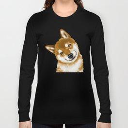 Smile Shiba Inu Long Sleeve T-shirt