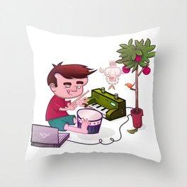 Digital Orchard Throw Pillow