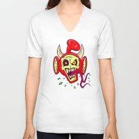 evil dead V-neck T-shirts featuring Evil Dead Po by Artistic Dyslexia
